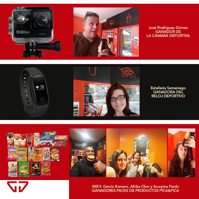 Nuestros ganadores del sorteo Hazte un selfie Pica&Pica 24 horas