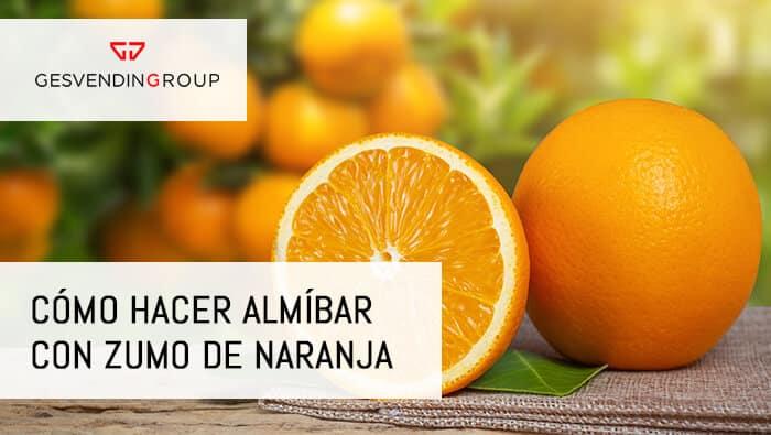 Almíbar con zumo de naranja en bizcochos y tartas