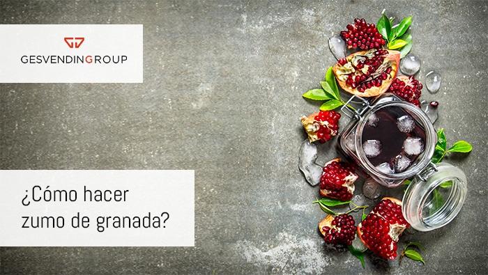 zumo de granada rico en antioxidantes