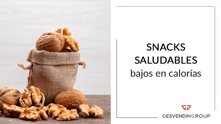 Snacks saludables bajos en calorías en máquinas vending